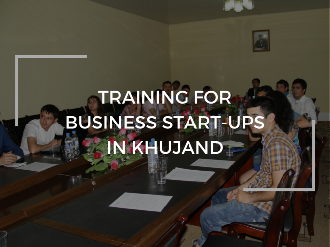 Training for business start-ups in Khujand